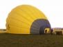 Auf- und Abbau eines Heißluftballones