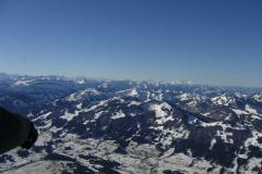 Die Alpen aus dem Ballon