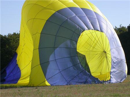 Ballon nach der Landung